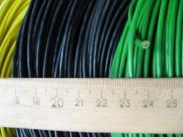 Фотография проводов с изоляцией из поливинилхлоридного пластиката (марка ПВ3)