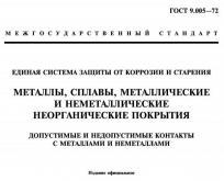 Титульная страница стандарта ГОСТ 9.005, который рассматривает электрохимическую коррозию в гальванических парах