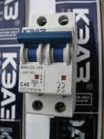 Двухполюсный автоматический выключатель ВМ63 на 32А и 40А КЭАЗ