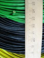 Фото установочного гибкого провода ПВ3 1.5 для стационарной прокладки в чёрном, жёлтом и зелёном исполнении