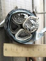 Фотография алюминиевого четырёхжильного бронированного кабеля АВБбШв 4х240 для прокладки на воздухе и в земле