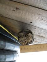 Фотография бронированныго кабеля АВБбШв 3х185+1х95 для прокладке в траншеях с тремя основными жилами и нулевой жилой меньшего сечения