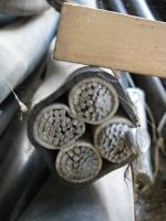 Фотография силового алюминиевого кабеля АВВГ 4х185 для стационарной прокладки в воздухе