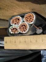 Фотография сечения силового кабеля ВВГ 3х120+1х70