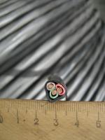 Фотография сечения трёхжильного кабеля ВВГнг 3х6 в ПВХ изоляции и оболочке пониженной горючести