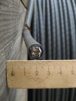 Фотография сечения контрольного негорючего экранированного кабеля КВВГЭнг 7х2.5