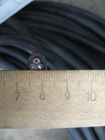 Фотография сечения силового трёхжильного кабеля КГ 3х1 Рыбинского завода