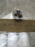 Фото сечения силового трёхжильного кабеля ПВС 3х10