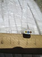 Фотография сечения силового монтажного шнура ШВВП 3х1
