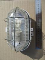 Светильник пылевлагозащищённый овальный НПП 2604А с алюминиевой решёткой