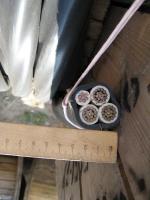 Изображение силового медного кабеля ВВГнг 3х95+1х50 с тремя многопроволочными и одной семипроволочной жилами