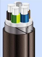 Изображение алюминиевого кабеля АВБбШв 5х95 с пятью жилами для стационарной прокладки в земле