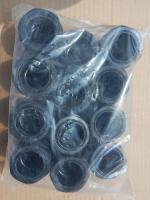 Герметичиные нейлоновые сальники MG 40 чёрного цвета с двумя гайками для фиксации и уплотнения