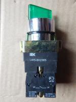 Переключатель LAY5-BK2365 зелёного цвета на 2 положения с фиксацией