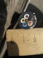 Фотография силового медного пятижильного кабеля H07RN-F 5х2,5 для трёхфазных систем переменного тока