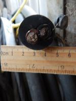 Фотография гибкого кабеля КГ 2х35 с двумя многопроволочными жилами