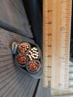 Фотография медного четырёхжильного кабеля ВВГнг 4х70, произведенного в соответствии с нормативным документом ГОСТ 16442-80