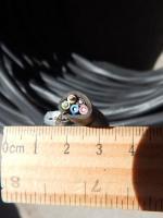 Фотография пятижильного провода ВВГнг 5х1.5 в оболочке пониженной горючести