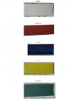 Фотографии отрезков термоусаживаемых трубок ТТУ 25/12,5 красного, синего, белого, зелёного и жёлтого цветов производства ИЭК