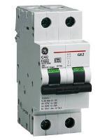 Изображение модульного двухполюсного автоматического выключателя G62 на 50А изготовления GE
