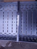 Фотография кабельного металлического оцинкованного перфорированного лотка 500х100 изготовления ИЭК