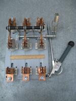 Фотография разъединителя РПС-4 на номинальный ток 400А для работы с предохранителями в трёхфазных системах