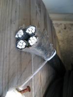 Фотография самонесущего четырёхжильного провода СИП-5 4х70 в изоляции из сшитого полиэтилена