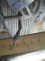 Фотография бортового вибростойкого провода БПВЛЭ сечением 0,5 с в хлопчатобумажной оплётке и экране из медной проволоки