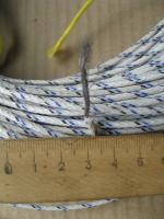 Фотография авиационного вибростойкого провода БПВЛ с медной лужёной жилой сечением 1 квадратный мм