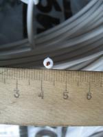 Фотография термостойкого провода ПВКВ 1 с медной многопроволочной жилой в кремнийорганической изоляции