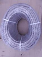 Фотография гофрированной трубы с внешним диаметром 16 мм производства компании ИЭК из самозатухающего поливинилхлоридного пластиката