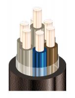 Изображение семижильного бронированного кабеля АКВБбШв 7х2,5 для прокладки в земле