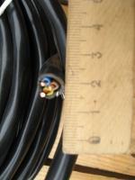 Фотография силового негорючего трёхжильного кабеля ВВГнг 3х2,5 для стационарной прокладки производства Южкабель