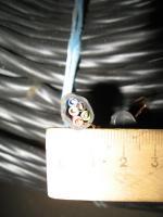 Фотография пятижильного силового медного кабеля ВВГнг 5х2,5 для стационарной групповой прокладки производства Южкабель