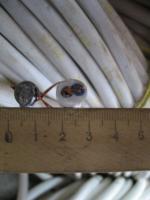 Фотография бытового монтажного провода ПВС 2х4 для электропроводки выпуска завода Южкабель