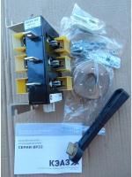 Фотография трёхполюсного разрывного выключателя-разъединителя ВР32-31Ф исполнения В31250 на тепловой ток 100 ампер выпуска КЭАЗ