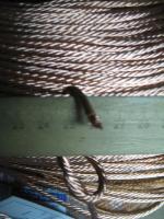 Фотография неизолированного медного провода ПЩ 4 для щёток электрических двигателей