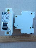 Фотография модульного автоматического выключателя ВА47-29 1Р на 16А производства КЭАЗ