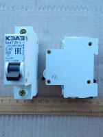 Фотография однополюсного модульного автоматического выключателя ВА47-29 1Р на ток 40 ампер производителя КЭАЗ