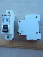Фотография модульного автомата ВА47-29 1Р на ток 63 ампера для установки на DIN-рейку производства КЭАЗ