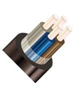 Изображение контрольного негорючего кабеля КВВГЭнг 4х6 для стационарной групповой прокладки, с защитой от помех