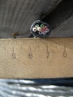 Фотография контрольного негорючего кабеля КВВГнг 10х1 для стационарной групповой прокладки