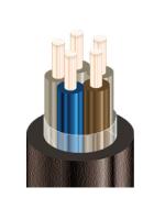 Изображение медного экранированного контрольного кабеля КВВГЭнг-LS 5х1 для групповой прокладки в общественных помещениях при возможных помехах