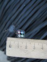 Фотография сечения силового алюминиевого кабеля АВВГнг 4х4 для стационарной групповой прокладки