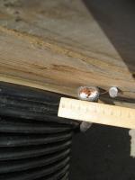 Фотография сечения гибкого провода для подвижного состава ППСРВМ 150 на напряжение 4000 вольт
