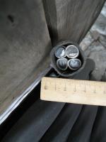 Фотография сечения силового алюминиевого кабеля АВВГнг 4х95 для стационарной групповой прокладки