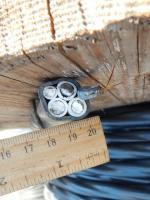 Фотография сечения силового алюминиевого кабеля АВВГнг 3х35+1х16 для стационарной групповой прокладки