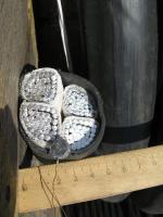 Фотография силового алюминиевого кабеля АВВГнг 4х240 для стационарной групповой и одиночной прокладки