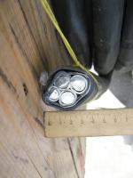 Фотография силового бронированного кабеля АВБбШвнг 3х120+1х70 в исполнении пониженной горючести для групповой прокладки в шахтах или туннелях