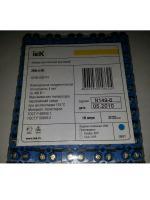 Фотография синего винтового зажима ЗВИ-3 нг производства компании ИЭК из полистирола